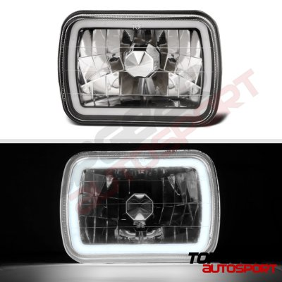 Jeep Wrangler YJ 1987-1995 Black Halo Tube Sealed Beam Headlight Conversion
