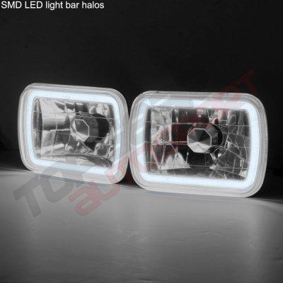Jeep Wrangler YJ 1987-1995 Black Halo Tube Sealed Beam Headlight Conversion