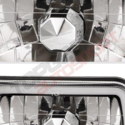 Dodge Omni 1978-1990 Black Halo Tube Sealed Beam Headlight Conversion