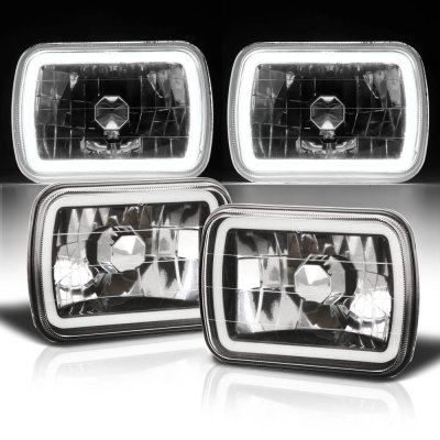 Pontiac Fiero 1984-1988 Black Halo Tube Sealed Beam Headlight Conversion