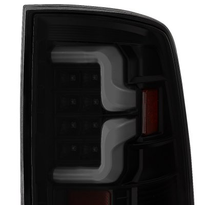 Dodge Ram 2009-2018 Black Smoked Custom LED Tail Lights