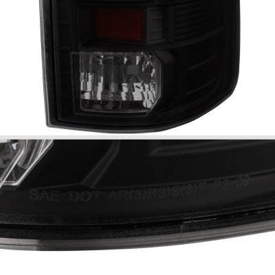 Dodge Ram 2500 2010-2018 Black Smoked Custom LED Tail Lights