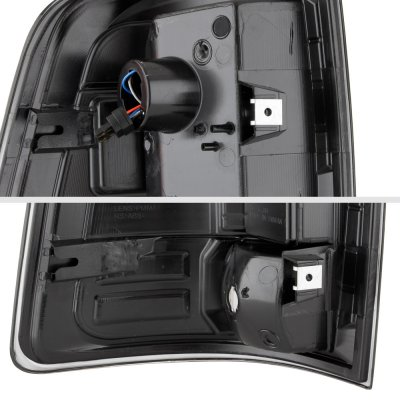 Dodge Ram 3500 2010-2018 Black Smoked Custom LED Tail Lights