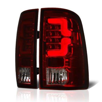 Dodge Ram 2500 2010-2018 Tinted Custom LED Tail Lights