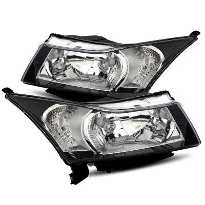 Chevy Cruze 2010-2015 Black Headlights