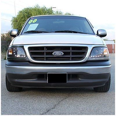 Ford Expedition 1997-2002 Black Projector Headlights LED DRL