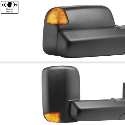 Dodge Ram 2500 2003-2009 New Power Heated Towing Mirrors Signal Lights Amber