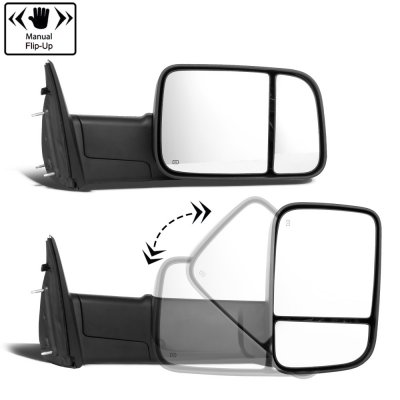 Dodge Ram 1500 2002-2008 New Power Heated Towing Mirrors Smoked Signal Lights