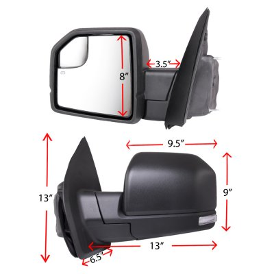 Ford F150 XL 2015-2020 Side Mirrors Power Heated LED Signal