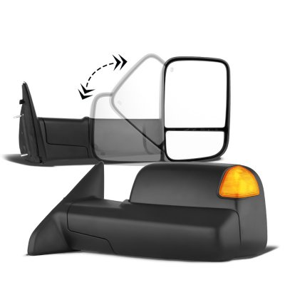Dodge Ram 1500 2002-2008 New Power Heated Towing Mirrors Signal Lights Amber