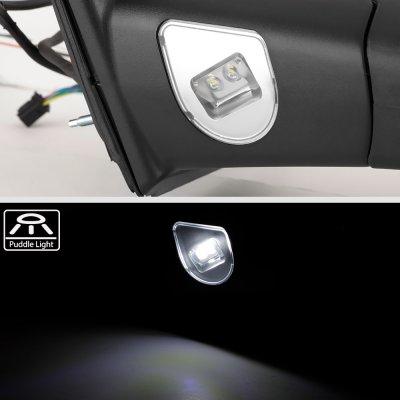 Dodge Ram 2500 2010-2018 Chrome Power Heated Towing Mirrors Smoked Signal Lights Temp Sensor