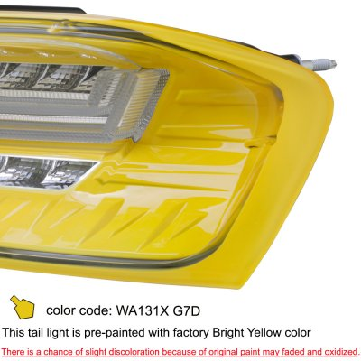 Chevy Camaro 2016-2018 Yellow LED Tail Lights Sequential Turn Signals