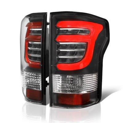 Ford F150 2015-2017 Black Custom LED Tail Lights Red Tube