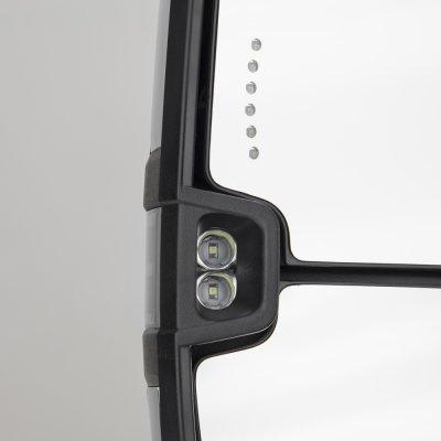 Toyota Tundra 2007-2020 Chrome Smoked LED Signal Towing Mirrors Power Heated