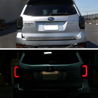Subaru Forester 2017 2018 Smoked Led Tail Lights Sequential Turn Signals