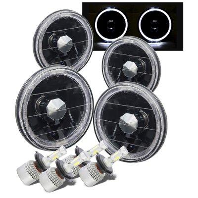 Chevy El Camino 1964-1970 Black Halo LED Headlights Conversion Kit