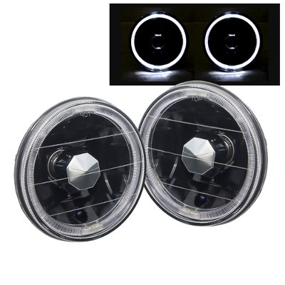 Plymouth Belvedere 1962-1970 Black Halo Sealed Beam Headlight Conversion Low Beams
