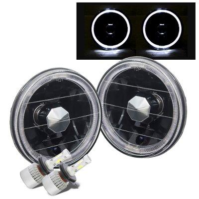 Chevy El Camino 1964-1970 Black Halo LED Headlights Conversion Kit High Beams