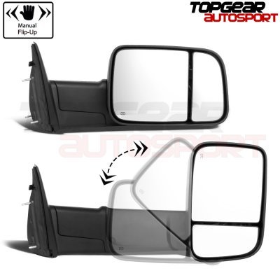 Dodge Ram 2500 2010-2012 Power Heated Towing Mirrors Clear Signal
