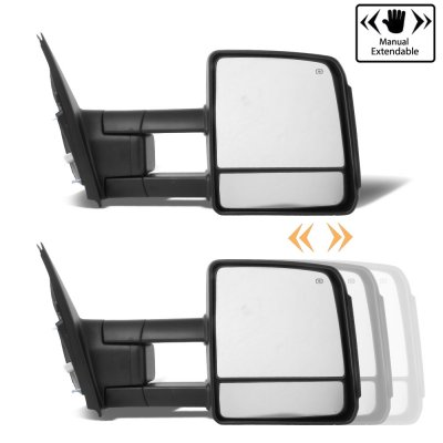 Toyota Tundra 2007-2018 Towing Mirrors Power Heated Smoked LED Signal Lights