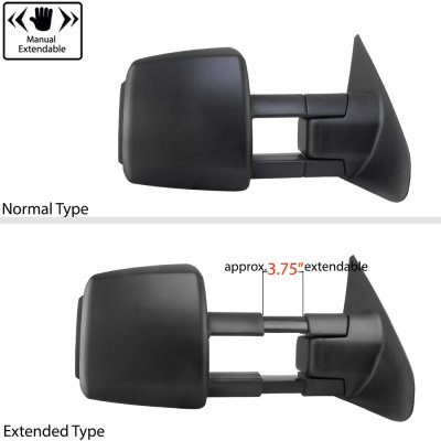 Toyota Tundra 2007-2020 Towing Mirrors Power Heated Smoked LED Signal Lights
