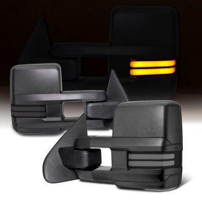 Chevy Silverado 2500HD 2015-2019 Towing Mirrors Smoked Tube Signal Power Heated