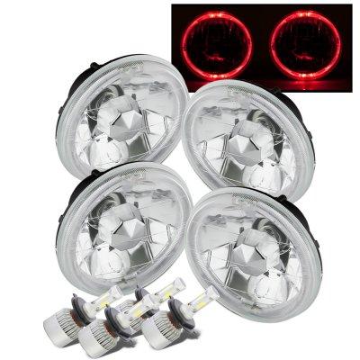 Chevy El Camino 1964-1970 Red Halo LED Headlights Conversion Kit