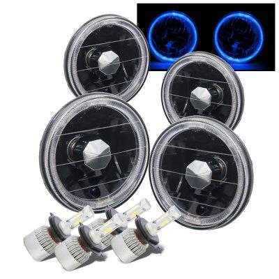 Buick Special 1961-1969 Black Blue Halo LED Headlights Conversion Kit