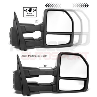 Ford F150 2009-2014 New Chrome Towing Mirrors Power Heated LED Signal Puddle Lights