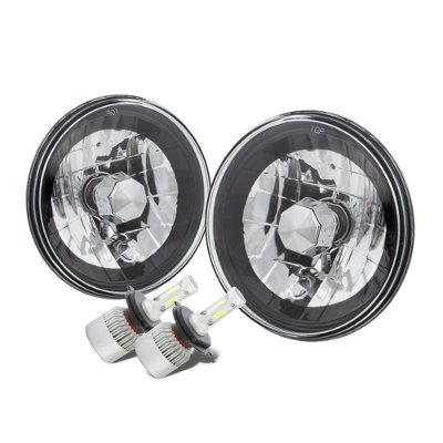 Dodge Pickup Truck 1969-1979 Black Chrome LED Headlights Kit