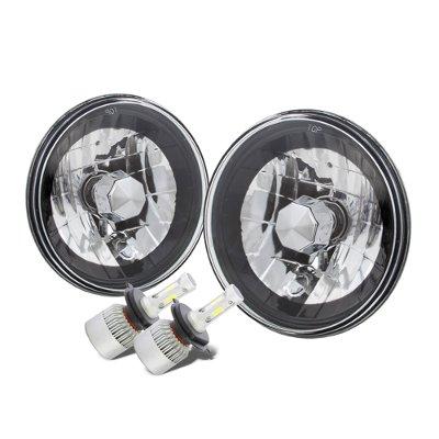 Jeep Wrangler 1997-2006 Black Chrome LED Headlights Kit
