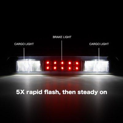 Chevy Silverado 1988-1998 Black Flash LED Third Brake Light White LED Cargo