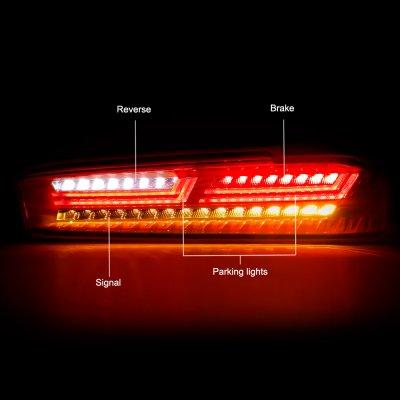 Chevy Camaro 2016-2018 Yellow LED Tail Lights Third Brake Light