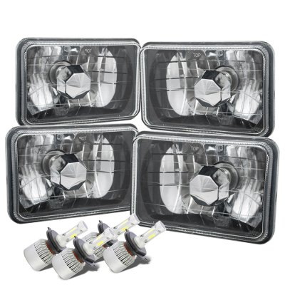 Ford LTD Crown Victoria 1988-1991 Black Chrome LED Headlights Kit Low and High Beams