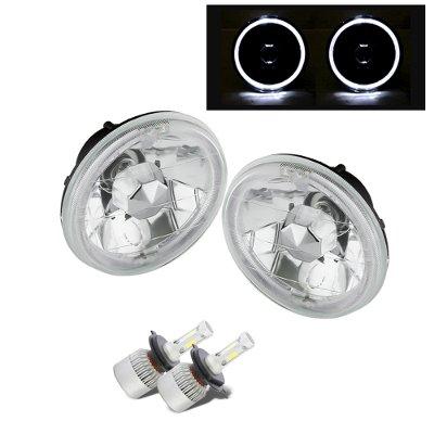 Chevy El Camino 1964-1970 White Halo LED Headlights Conversion Kit High Beams