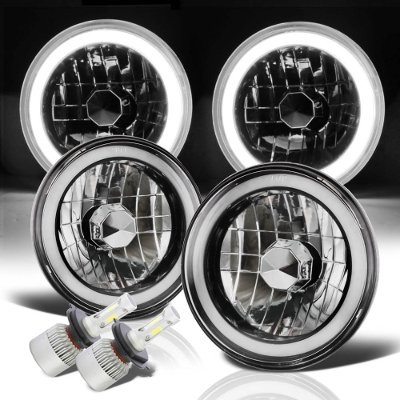 Pontiac Ventura 1972-1977 Halo Tube Black Chrome LED Headlights Kit