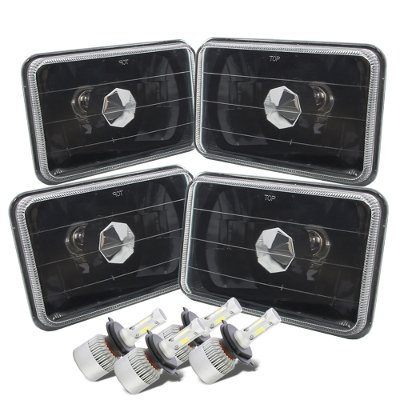 Lincoln Town Car 1986-1989 Black LED Headlights Conversion Kit Low and High Beams