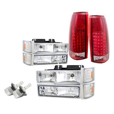 GMC Sierra 2500 1994-1998 LED Headlights Conversion LED Tail Lights