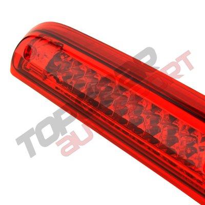 Chevy Silverado 2014-2018 Red Full LED Third Brake Light Cargo Light