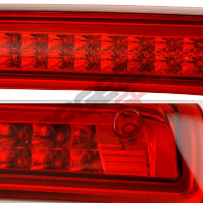 Chevy Silverado 2014-2018 Red Full LED Third Brake Light Cargo Light