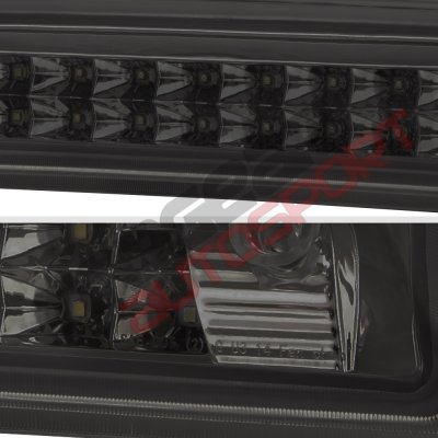 Chevy Silverado 2014-2018 Smoked Full LED Third Brake Light Cargo Light