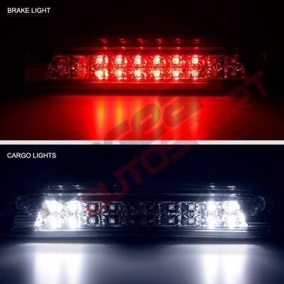 Chevy Silverado 2014-2018 Smoked Full LED Third Brake Light Cargo Light