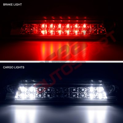 GMC Sierra 3500HD 2015-2018 Smoked Full LED Third Brake Light Cargo Light