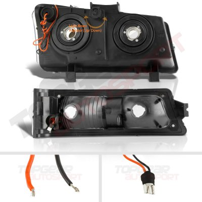 Chevy Silverado 2500HD 2003-2006 LED DRL Headlights Tube Bumper Lights