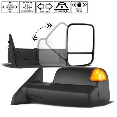 Dodge Ram 1500 2009-2018 Power Heated Towing Mirrors Signal Lights Temp Sensor