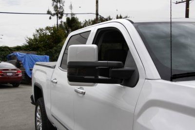 Chevy Silverado 2014-2018 White Towing Mirrors Smoked LED Lights Power Heated