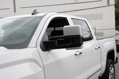 Chevy Silverado 2500hd 2015 2019 White Towing Mirrors Smoked Led Signal Power Heated