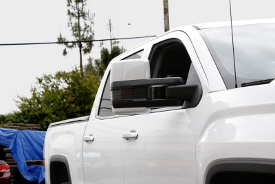 GMC Sierra 2014-2018 White Towing Mirrors Smoked LED Signal Power Heated