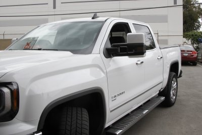 Gmc Sierra 2014 2018 White Towing Mirrors Smoked Led