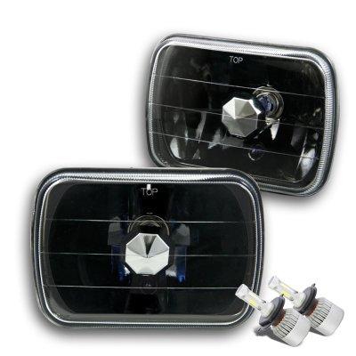 GMC Sierra 1988-1998 Black LED Headlights Conversion Kit